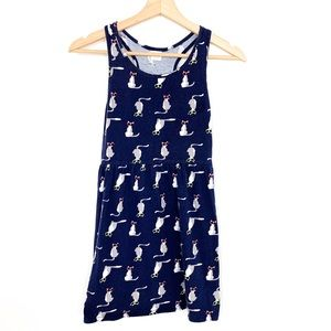 Gymboree | Navy racerback dress with cats size Lg